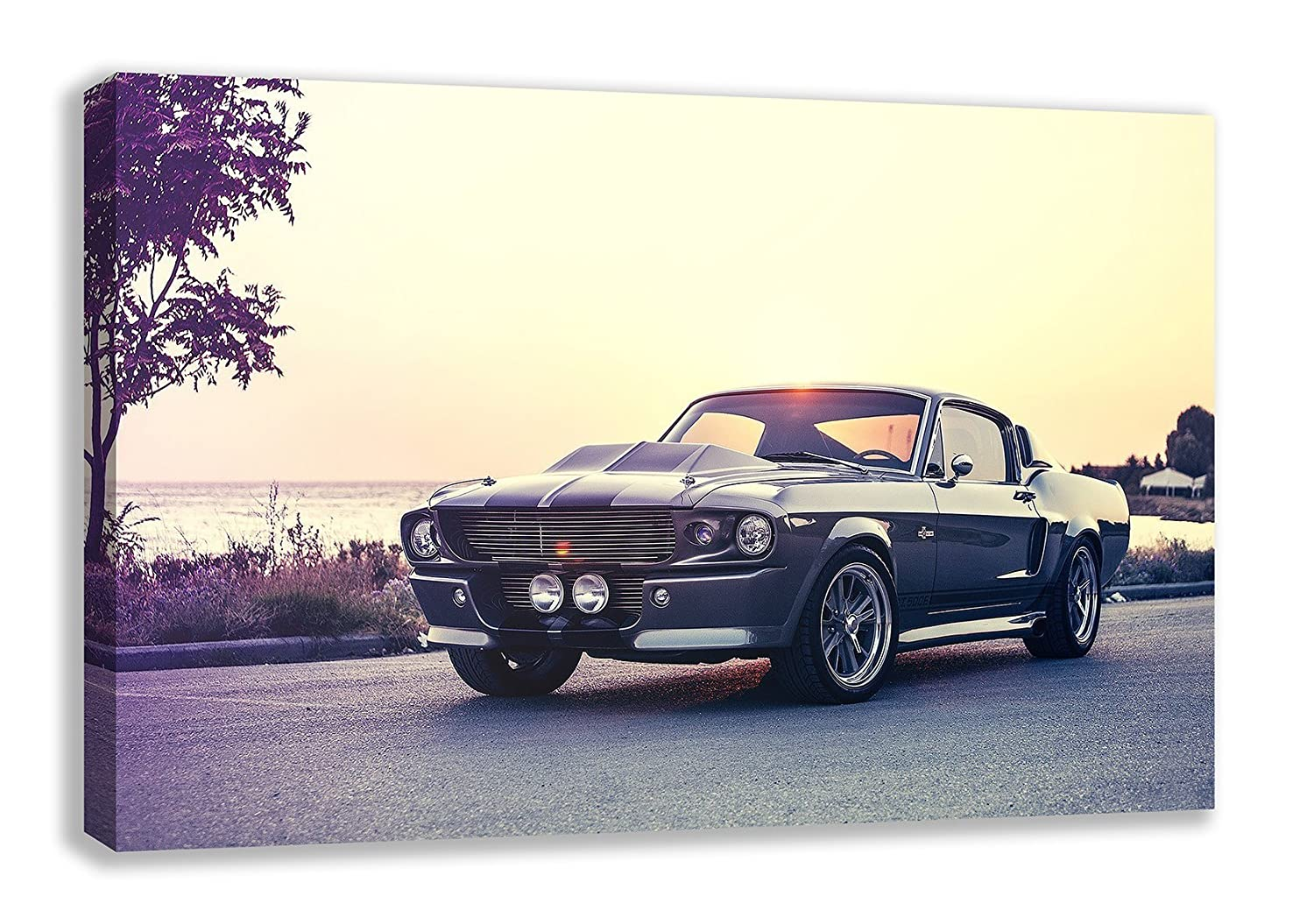 Amazon com 1967 ford mustang shelby cobra gt500 eleanor canvas wall art 44 x 26 posters prints