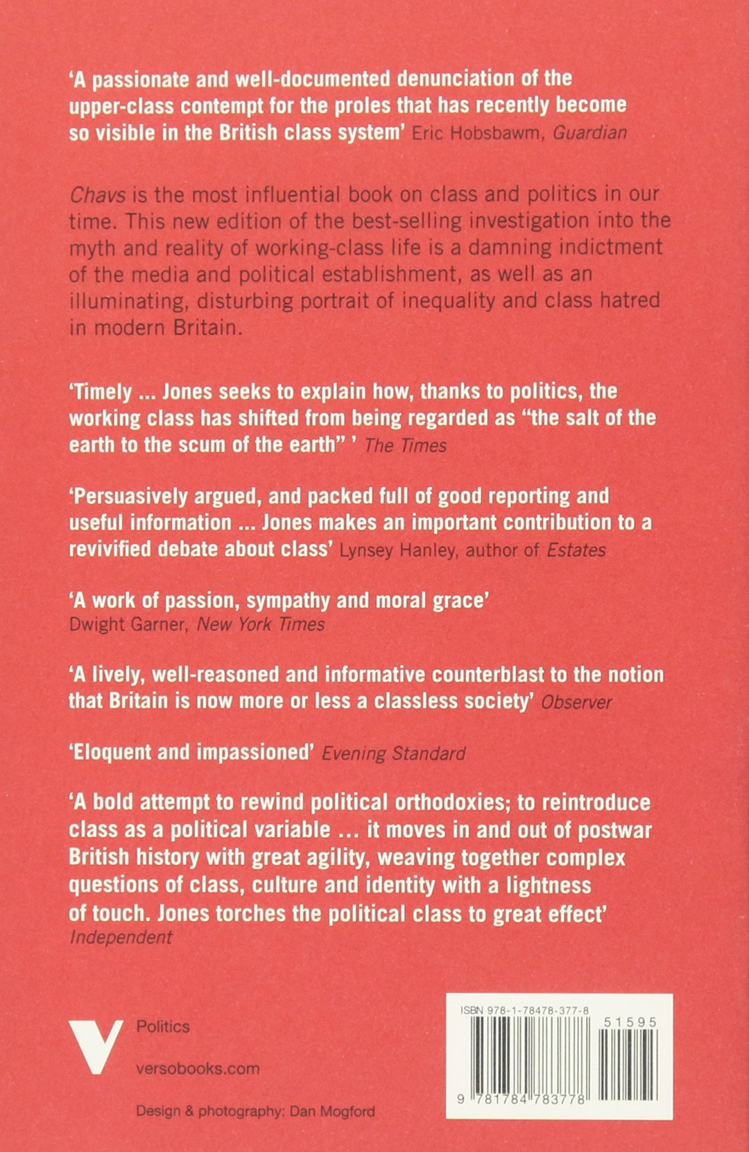 Chavs: The Demonization Of The Working Class: Owen Jones: 9781784783778:  Amazon: Books