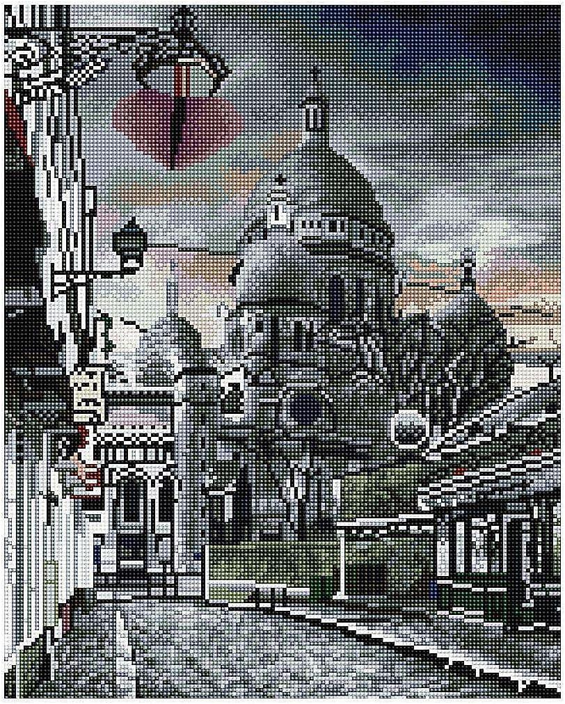 GJ1012 Diamond Vollbedeckung mit Holzrahmen Painting Set Bild 40 x 50 Diamant Malerei Stickerei Handarbeit Basteln Mosaik Steine Blumen Korb Haus am Bach
