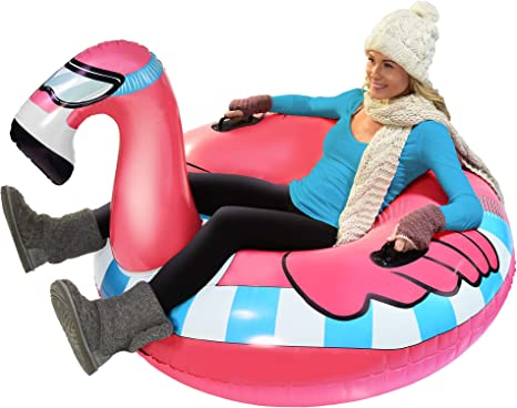 Big Snow Sleds Winter Outdoor Toys for Kids and Adults WEEFEESTAR Snow Tubes for Sledding Kids 47 Inch Inflatable Snow Sled with Handles Snow Tube for Heavy Duty