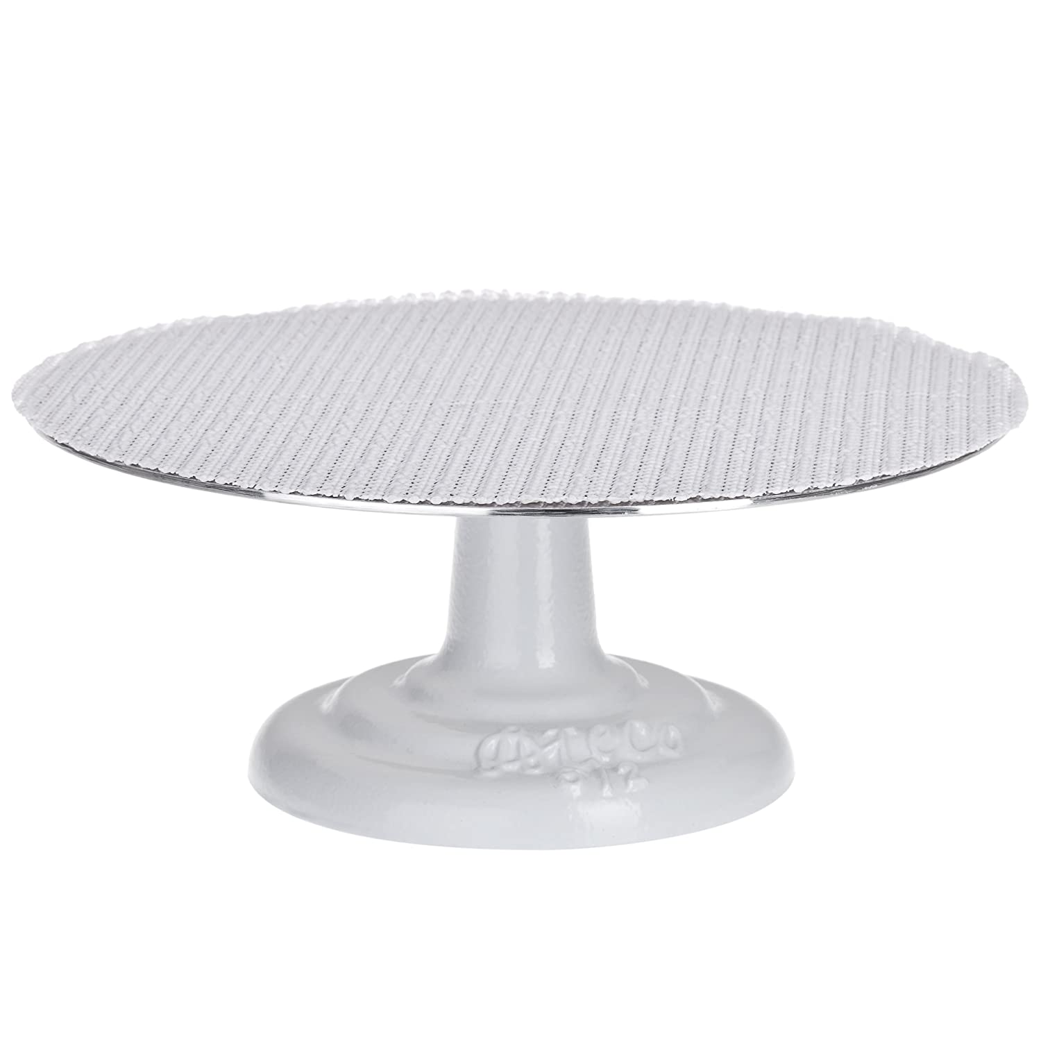 "Ateco 612 Revolving Cake Decorating Stand, 12"" Round, Cast Iron Base with 1/8"" Aluminum Top"
