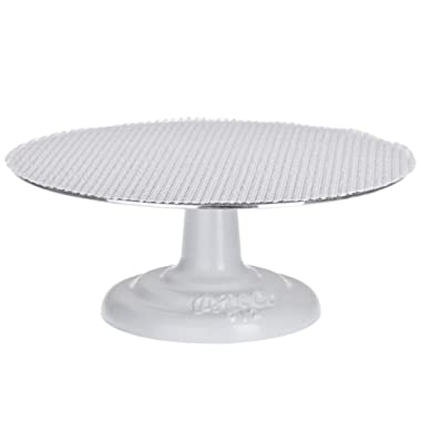 Ateco Revolving Cake Stand with Cast Iron Base and Non-Slip Pad, 12-Inch