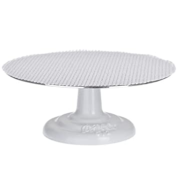 Ateco 612 Revolving Cake Decorating Stand, 12u0026quot; Round, Cast Iron Base  With 1