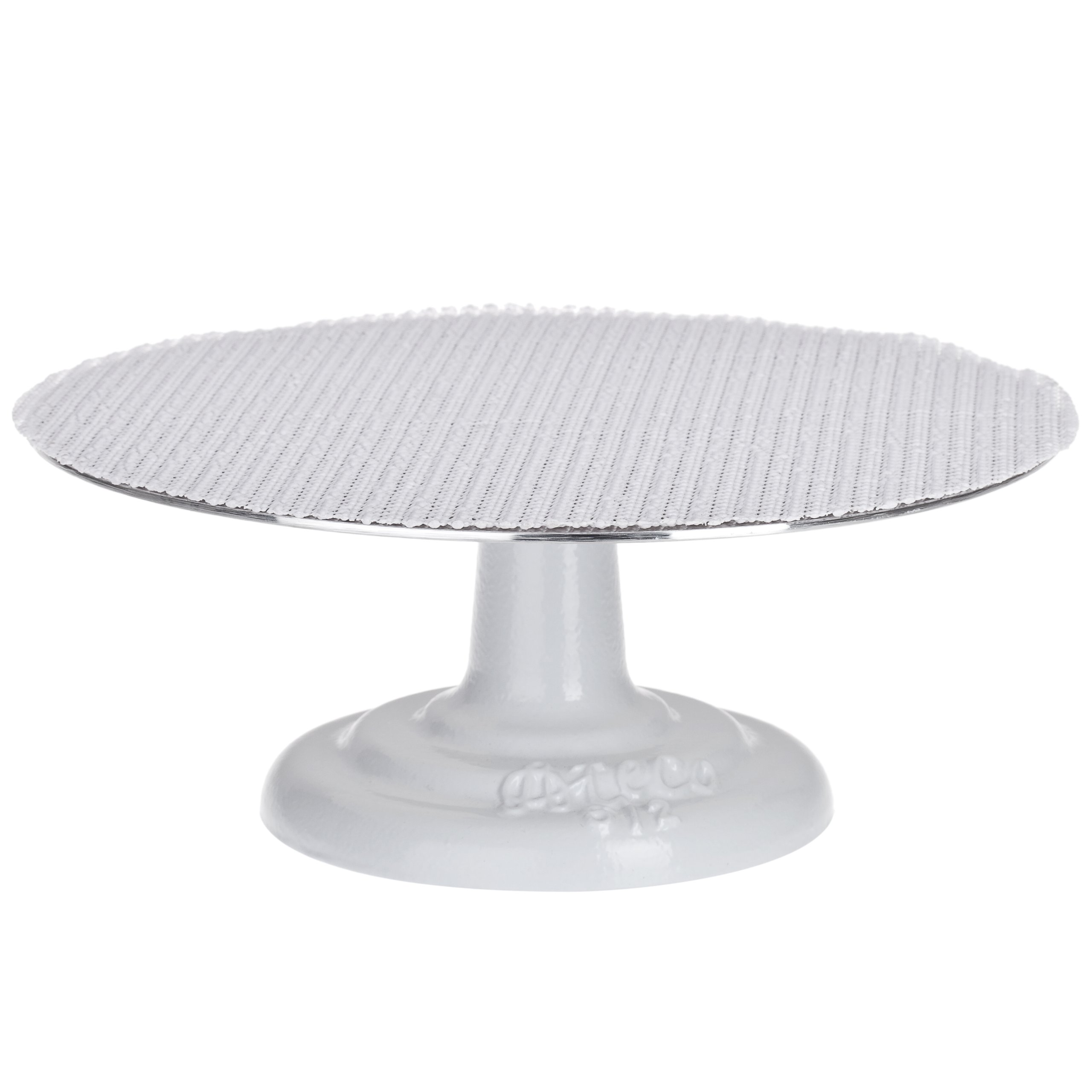 Ateco 612 Revolving Cake Decorating Stand, 12'' Round, Cast Iron Base with 1/8'' Aluminum Top