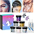 Body Glitter by iMethod - 6 Jars Face Glitter, including Fine Glitter & Chunky Glitter, Holographic Glitter for Festival Makeup, Perfect for Women and Kids, Rave Accessories