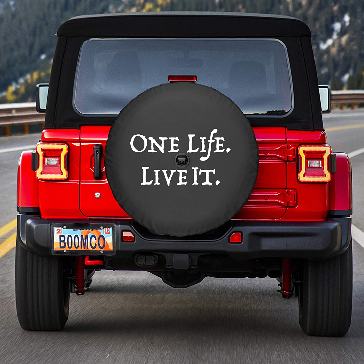 33 Soft JL Tire Cover for use with 2018-2019 Jeep Wrangler Rubicon JL with Back-up Camera Boomerang - One Life Live It