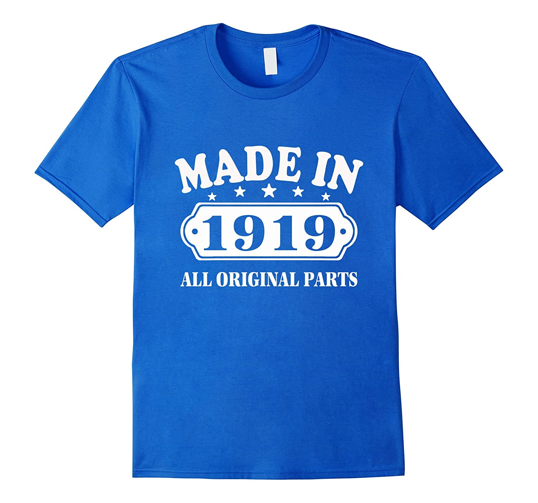 98th Birthday T-Shirt Vintage Made in 1919 ideas Man Shirt-PL