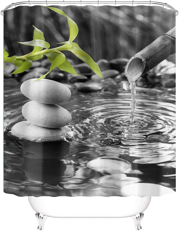 Details about  /Shower Curtain 180x200 cm Bamboo Zen Grey White Water Resistant Bath Curtain d Badewannen Vorhang data-mtsrclang=en-US href=# onclick=return false; show original title