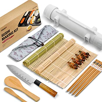 Isseve Sushi Making Kit with Bamboo Mats and Chopsticks