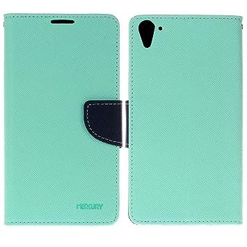 HTC Desire 820 funda,COOLKE Dos Colores Funda Carcasa Cuero ...