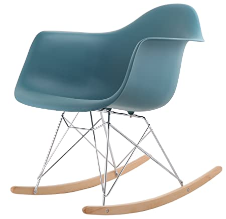 Lovely HNNHOME Eames Inspired Rar Lounge Retro Rocker Rocking Chair Leisure  Armchair Panton (Ocean)
