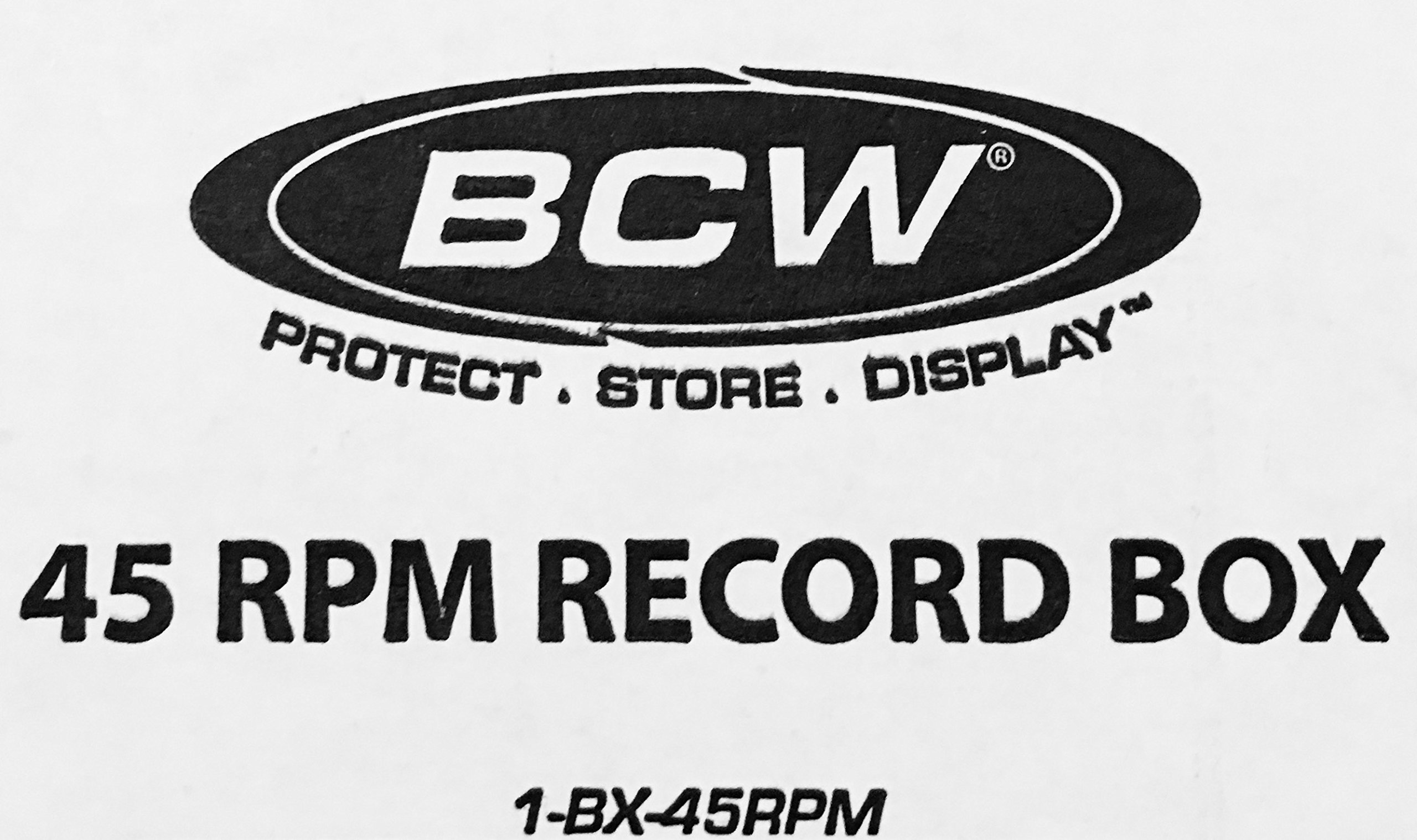 NEW BCW 45 RPM VINYL RECORD STORAGE BOX by BCW