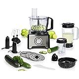 Tristar MX-4163 - Robot de cocina multifunción, 12 funciones en 1, 800 W, color negro y plateado