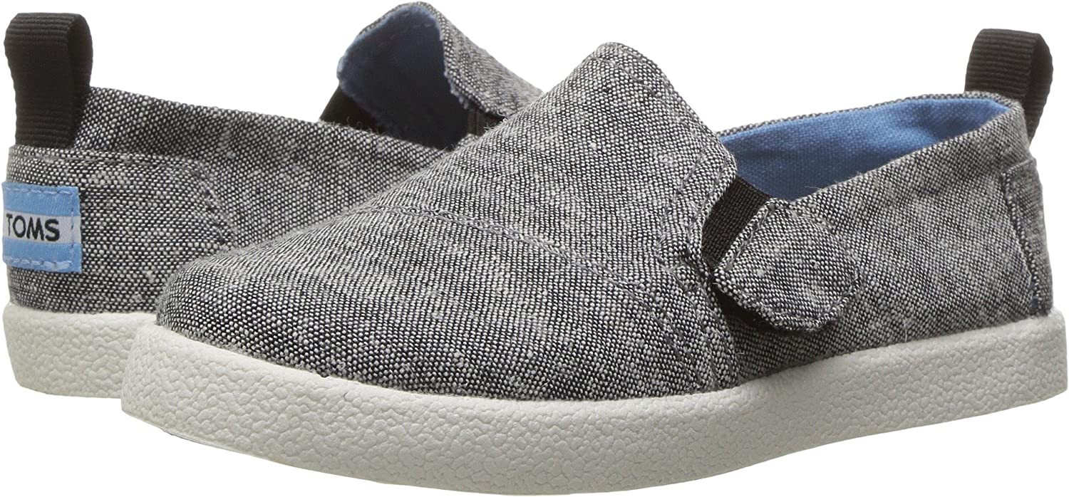 aba0c52ad75a Amazon.com  TOMS Kids Unisex Avalon Slip-On (Infant Toddler Little Kid)  Black Slub Chambray 2 Infant M  Shoes