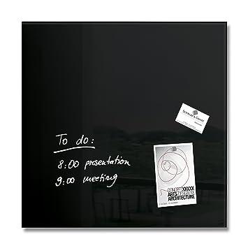 Sigel GL110 Glas-Magnetboard / Magnettafel artverum schwarz, 48 x ...