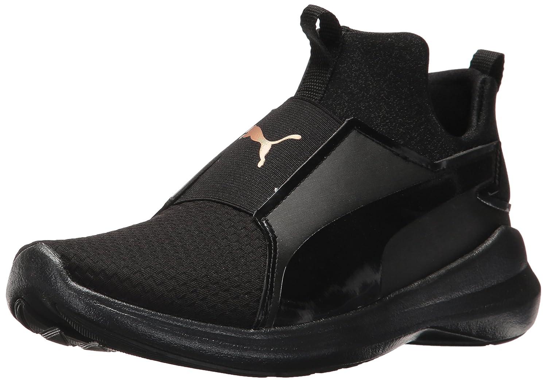 PUMA Women's Rebel Mid WNS En Pointe Sneaker B071X66JJJ 8.5 M US|Puma Black-puma Black