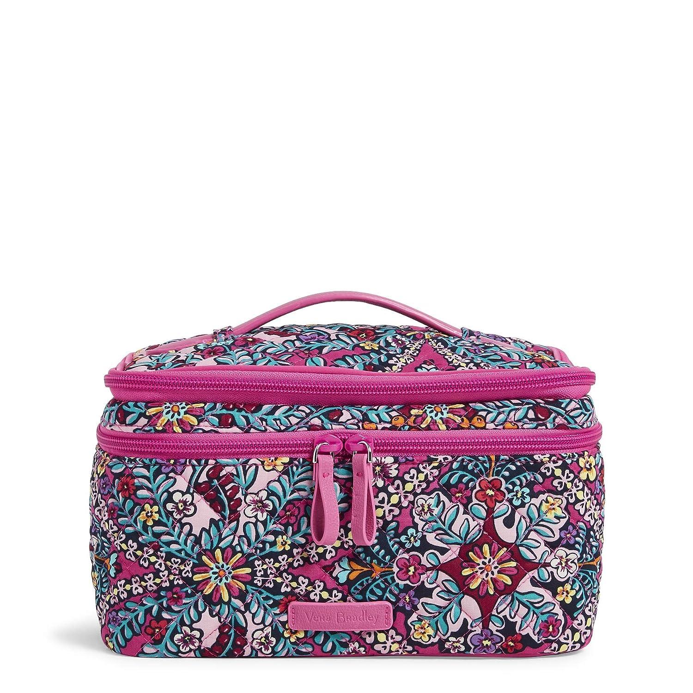 Vera Bradley Brush Up Cosmetic Makeup Bag Case, Signature Cotton