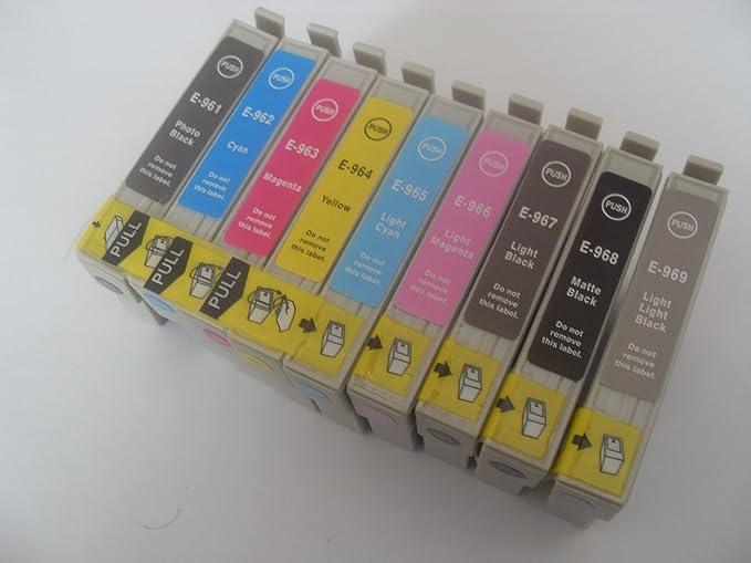 9 Kompatible Tintenpatrone Für Epson Stylus Photo R2880 T0961 9 Je 18 2 Ml T0961 T0962 T0963 T0964 T0965 T0966 T0967 T0968 T0969 Tintenpatrone Bürobedarf Schreibwaren