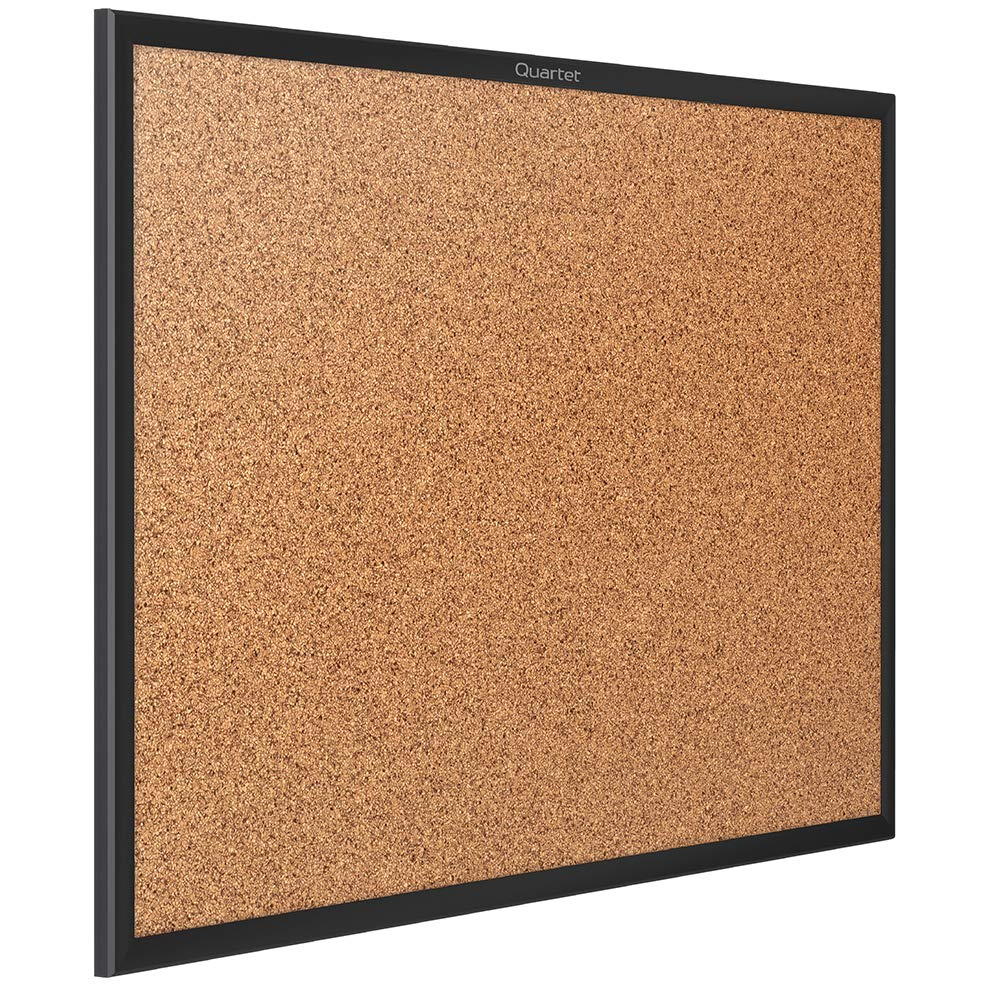 "Quartet Cork Bulletin Board, 24"" x 18"", Corkboard, Black Frame (2301B) 24"" x 18"" ACCO Brands"