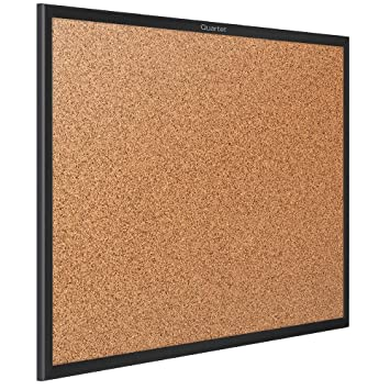 Amazoncom Quartet Corkboard Framed Bulletin Board 5 X 3 Cork