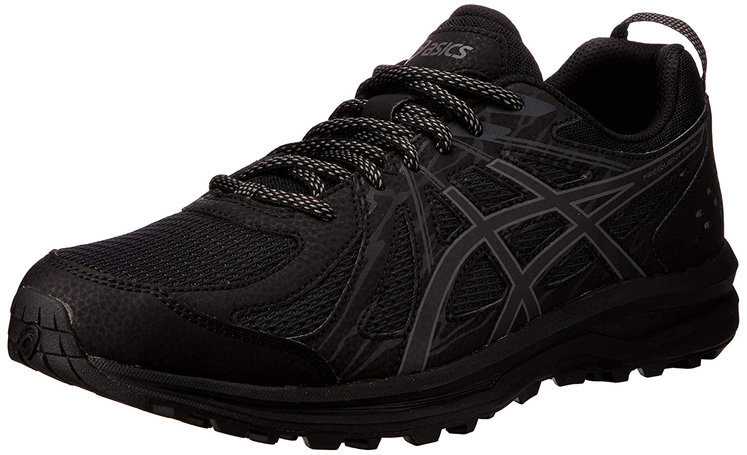 black grey carbone ASICS Men's Frequent Trail Running shoes