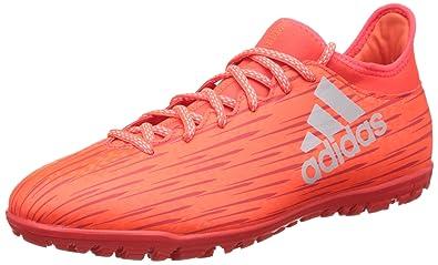adidas Herren X 16.3 TF Fußballschuhe, Orange (Solar Red/Silver Metallic/Hi