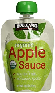 Kirkland Signature Organic Apple Sauce, 76.08 Ounce