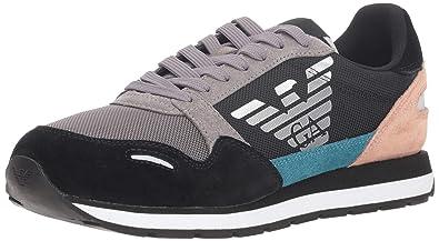 063f1efde138 Emporio Armani Women s Logo Fashion Sneaker  Amazon.co.uk  Shoes   Bags