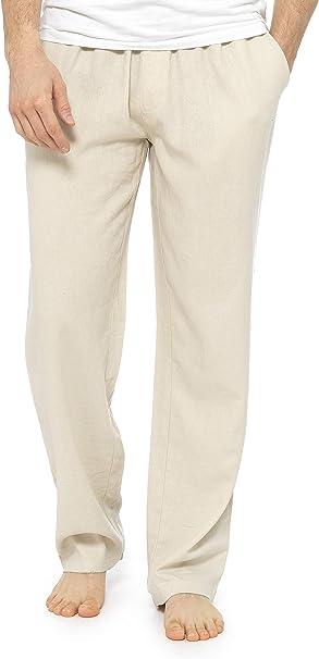 Citycomfort Pantalones Hombre Ropa Hombre Verano Casual Pantalon Lino Hombre Largo Con Cintura Elastica Pantalones Anchos Para Playa Regalos Para Hombres Y Adolescentes Amazon Es Ropa Y Accesorios