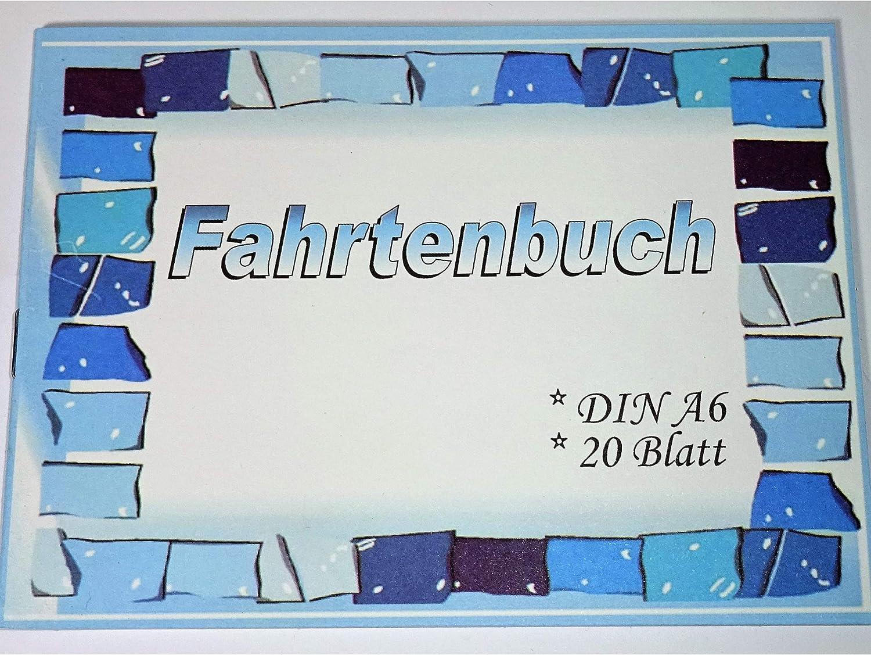 1a-becker Fahrtenbuch 20 Seiten DIN A6 PKW KFZ Auto Fahrten Kilometer Fahstrecke Steuern