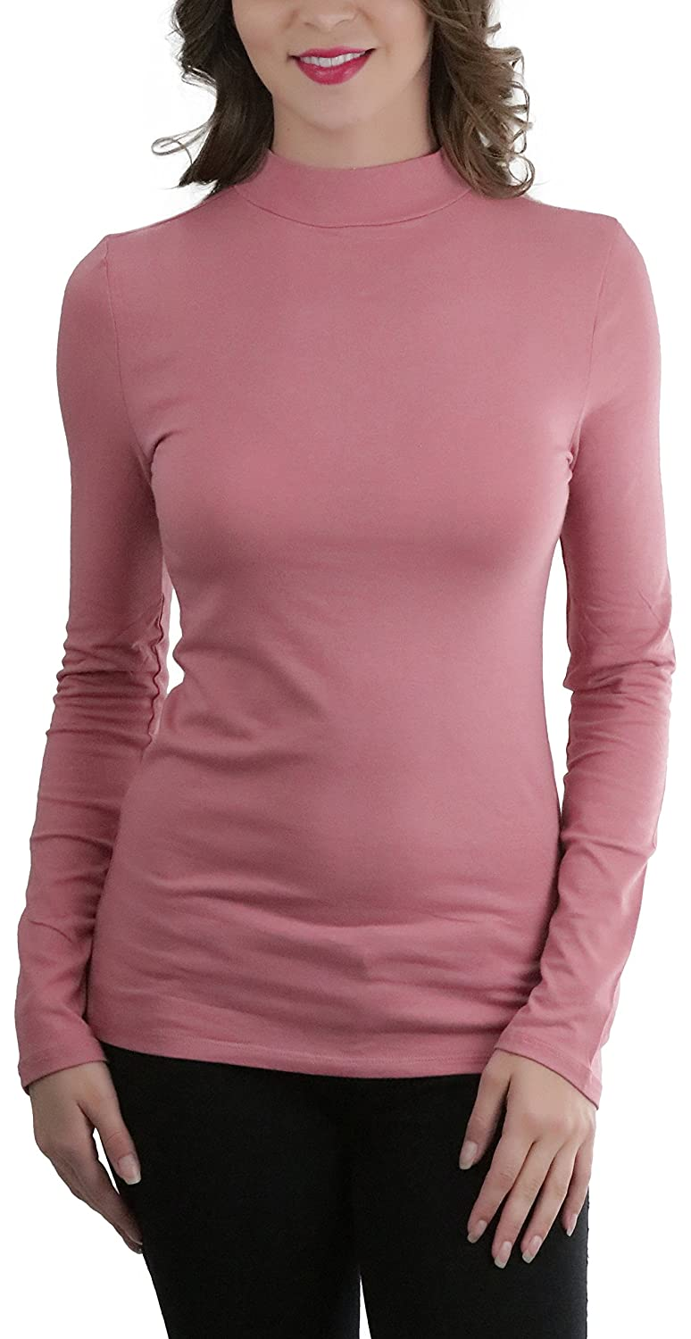 f5fc82fd This Mock Neck Long Sleeve Classic Top is the perfect choice for the woman  who wants a little more style in her top. Pull On Closure. Long Sleeves.