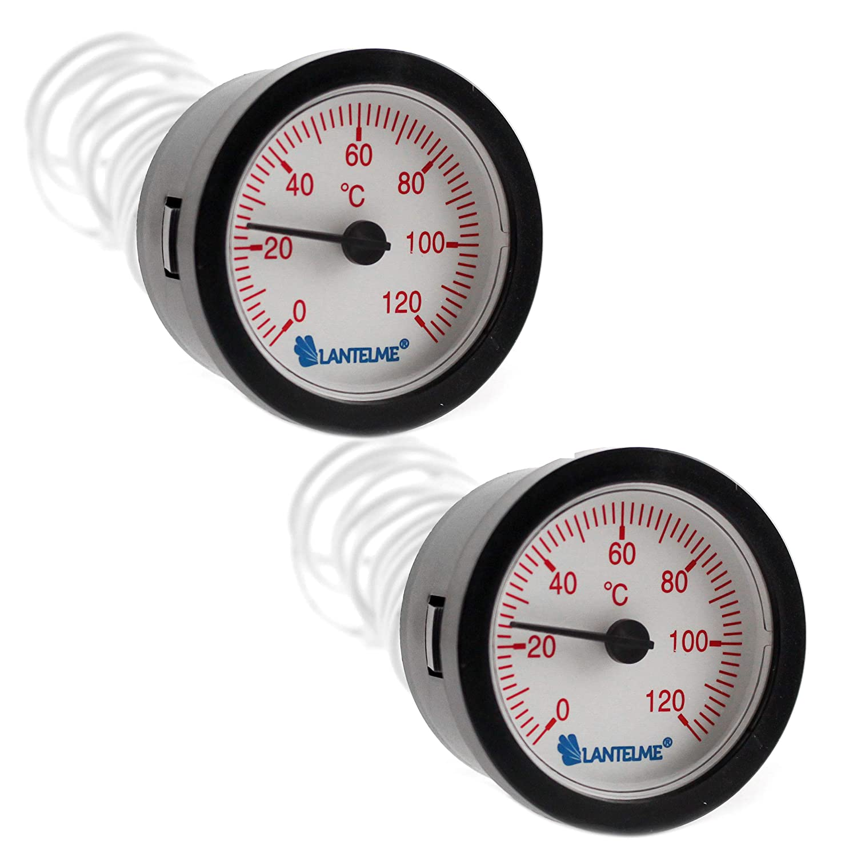 Lantelme g-7319 Juego 2 Stk. manecillas Termó metro para indicador de temperatura de agua caliente –  Analog kapill tipo herm ometer con pantalla roja
