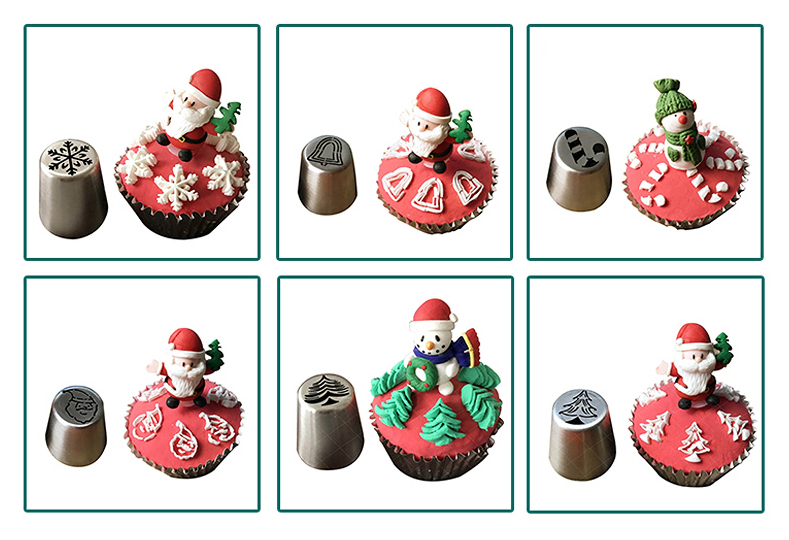JJMG NEW Russian Icing Piping Tips Christmas Design For Cakes Cupcakes Cookies - Decoration Pastry Baking Tools by JJMG (Image #4)