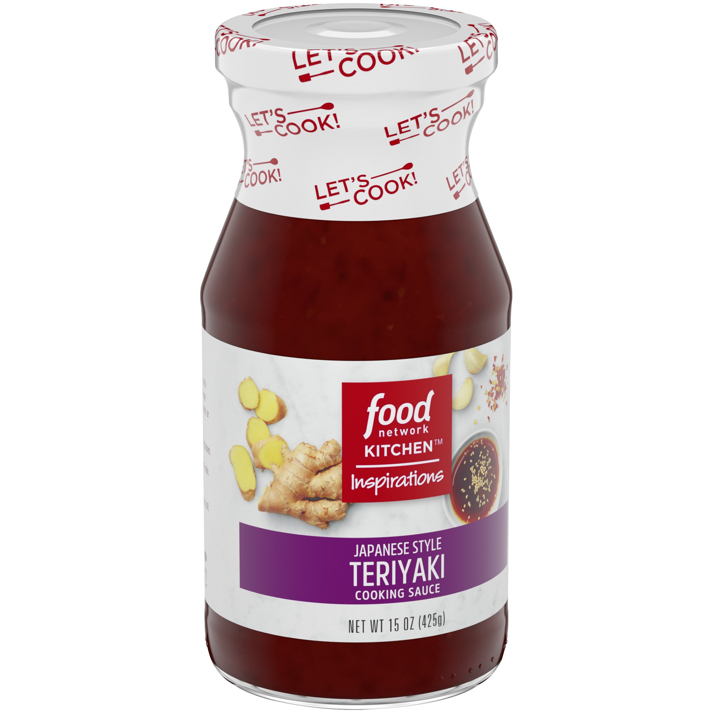 Food Network Kitchen Inspirations Japanese Style Teriyaki Cooking Sauce, 15 oz