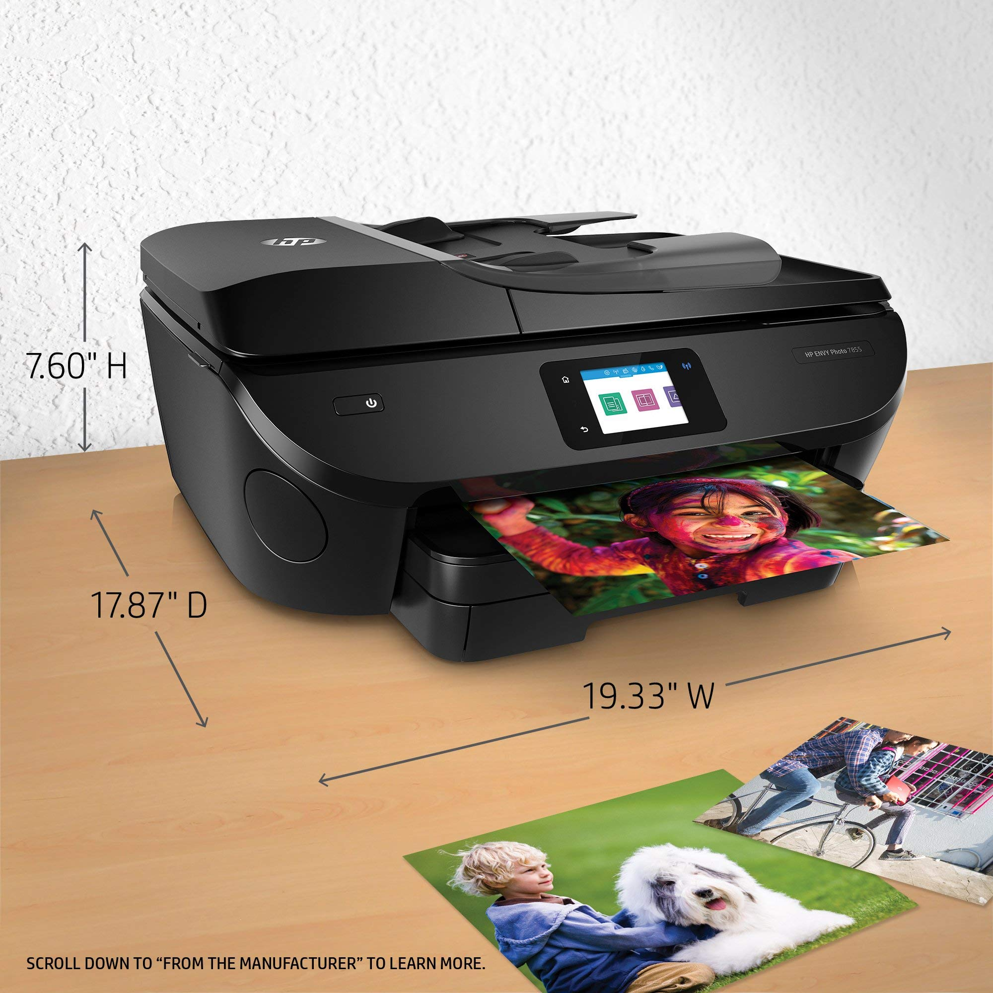 HP ENVY Photo 7855 All in One Photo Printer with Wireless Printing, Instant Ink ready (K7R96A) (Renewed) by HP (Image #3)