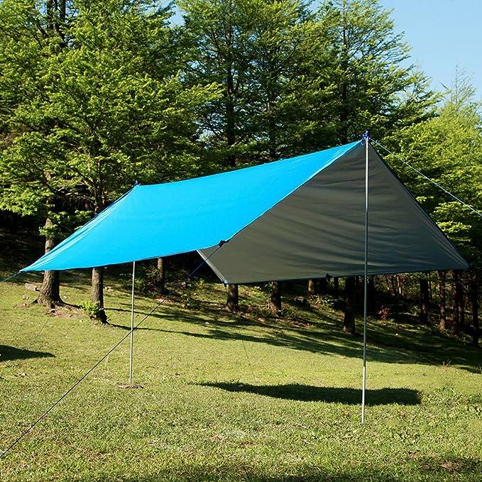 Waterproof Camping Tent Tarp Outdoor Awning Sun Shade 100*145CM Rain Mat Sh T5K2