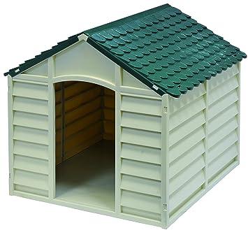 GARDIUN KIG10701 Caseta para Perros Blanco Y Verde 72x71x68 cm