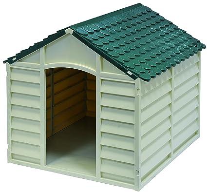 GARDIUN KIG10701 Caseta para Perros, Blanco Y Verde, 72x71x68 cm