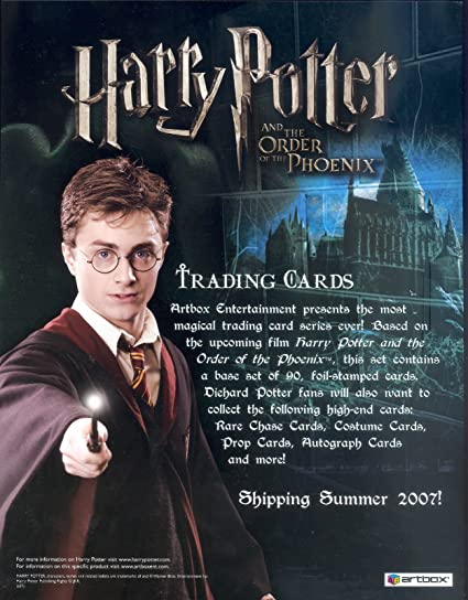 Harry Potter Order Of The Phoenix 2007 Artbox Promotional Sell Sale Sheet At Amazon S Entertainment Collectibles Store