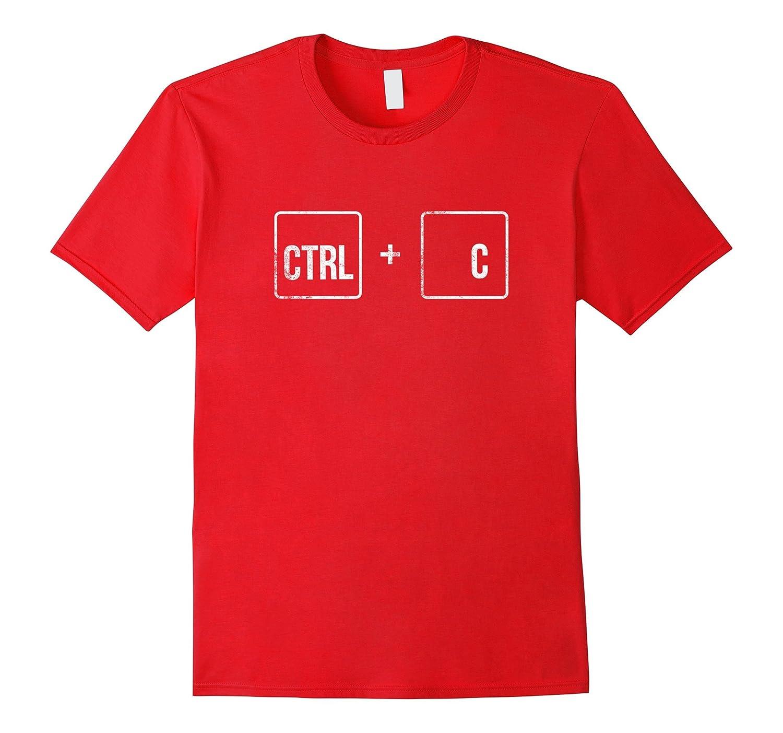 Ctrl + C couples matching Ctrl V funny halloween T shirt-ANZ