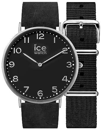 Ice,Watch , CITY Barrow , Montre noire pour femme avec bracelet en cuir +