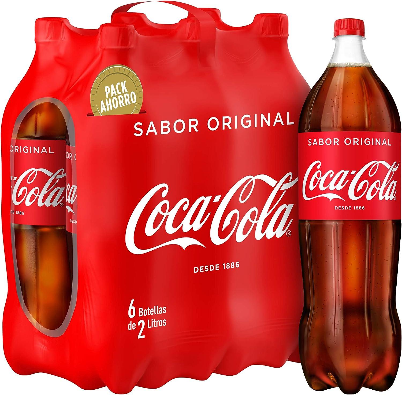 Coca-Cola Bebida Refrescante Aromatizada - 6 Botellas x 2000 ml - Total: 12000 ml: Amazon.es: Alimentación y bebidas