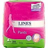 Lines Specialist Pants Discreet Assorbenti per Urina, Taglia L, 7 Pezzi