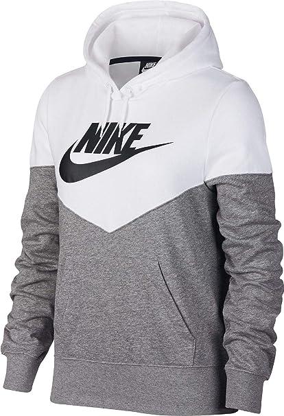 Nike Heritage Hoodie Fleece Sweat à Capuche Femme, Dark Grey