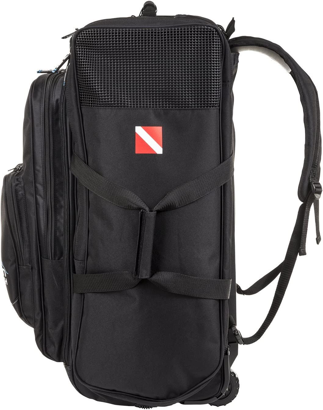 IST Roller Backpack / Equipment Bag for Scuba Diving & Snorkeling Gear, Travel Luggage with Wheels