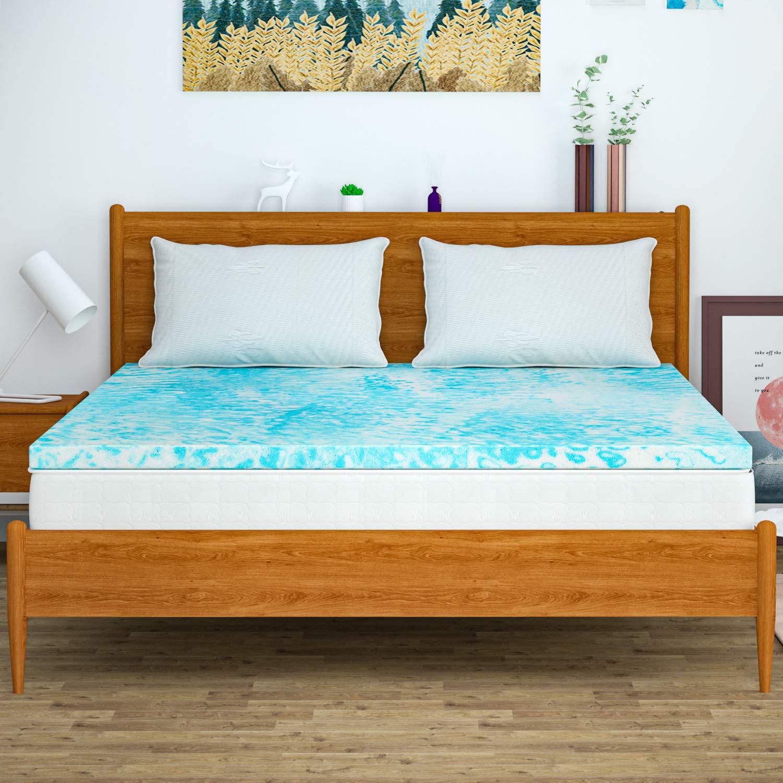 Mattress Topper King, Memory Foam Mattress Topper for King Size Bed, 3 Inch by Milemont
