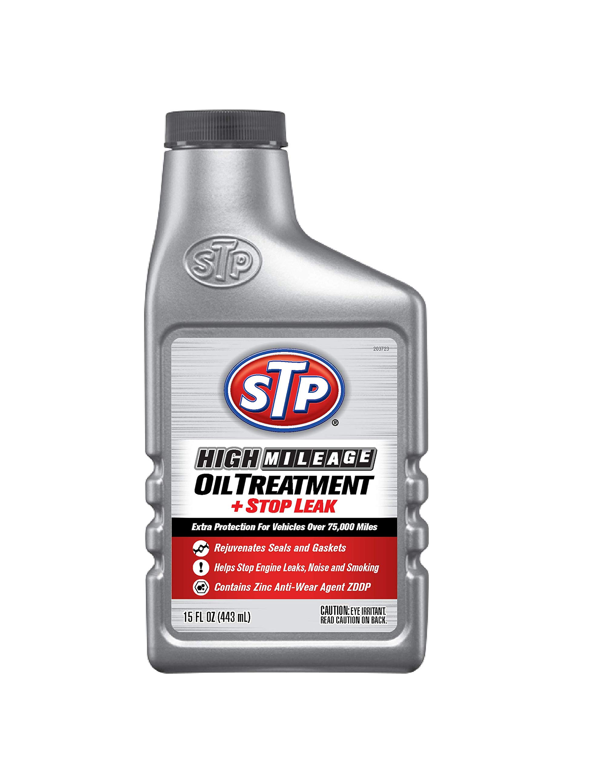 STP High Mileage Oil Treatment, Formula for Cars & Truck, Stop Leak, Bottles, 15 Fl Oz, 15604B