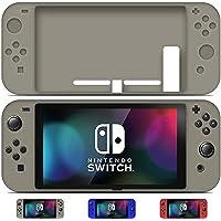 Lenfech Funda para Nintendo Switch. Funda Flexible de Silicona para Nintendo Switch Disponible en Color Gris, Rojo y Azul. (Color Azul).