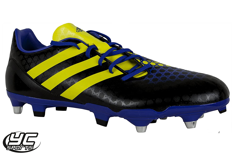 Adidas Incurza TRX SG Rugby Boots 6 studs BlackYellowBlue 20152016 season  (12 UK) Amazon ... ac953f46a