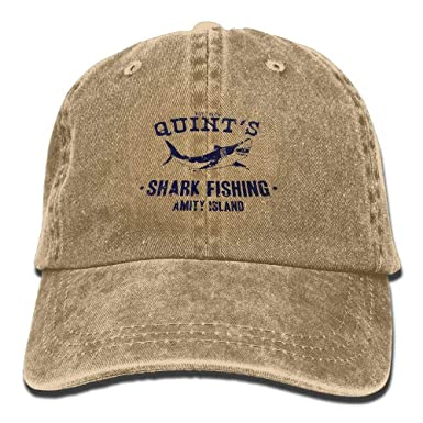 8ee3949aa359ff Alility Caps Quints Shark Fishing Jaws Cotton Adjustable Denim Hats  Baseball Cap for Man and Woman